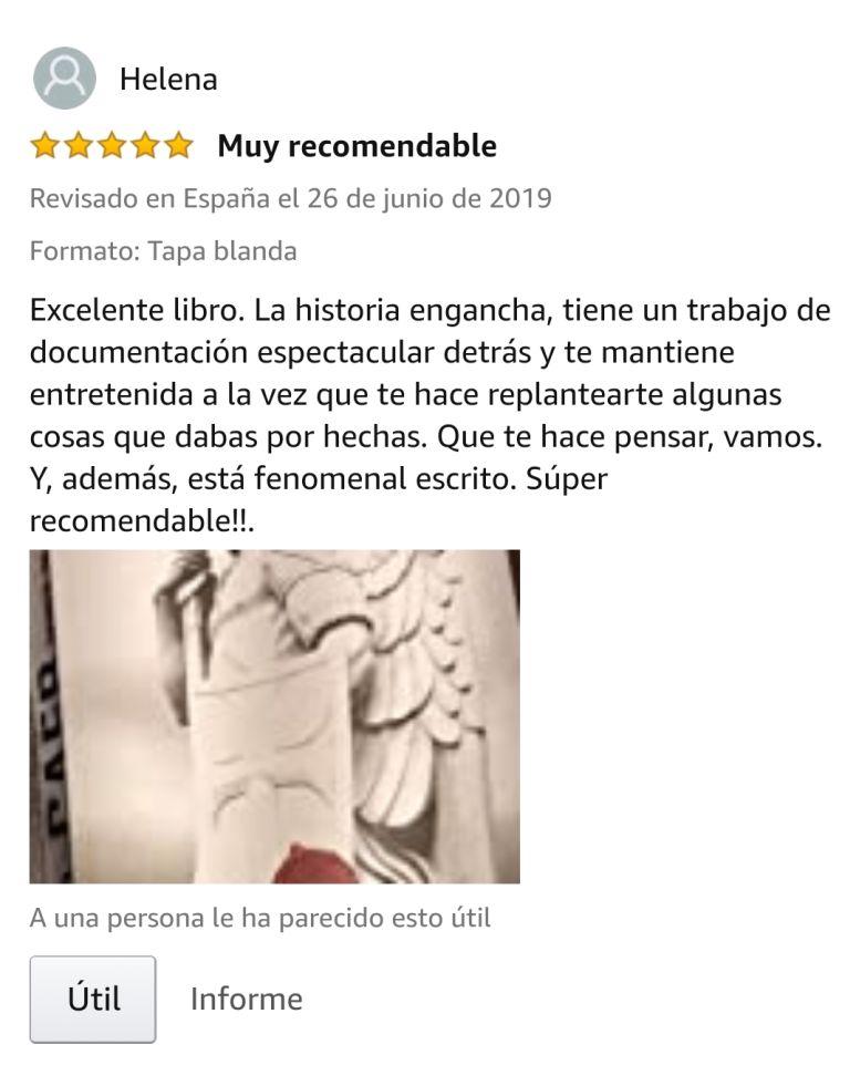 """OPINIONES: Opinión 5 estrellas en Amazon de uno de los clientes de Amazon sobre el libro CAER de Javier de Frutos: """"xcelente libro. La historia engancha, tiene un trabajo de documentación espectacular detrás y te mantiene entretenida a la vez que te hace replantearte algunas cosas que dabas por hechas. Que te hace pensar, vamos. Y, además, está fenomenal escrito. Súper recomendable!!.""""."""