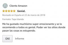 """OPINIONES: Opinión 5 estrellas en Amazon de uno de los clientes de Amazon sobre el libro CAER de Javier de Frutos: """"Genial. Me ha gustado muchísimo super emocionante y se lo recomiendo a todos es genial. Poder ver los sitios donde pasan las cosas es estupendo.""""."""