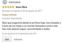 """OPINIONES: Opinión 5 estrellas en Amazon de uno de los clientes de Amazon sobre el libro CAER de Javier de Frutos: """"BUEN LIBRO. Libro que engancha desde la primera hoja. Nos traslada a través de sus hojas a un mundo fantástico. Cuanto más lees más quieres seguir. Recomendado a todos""""."""