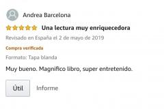 """OPINIONES LIBRO: Opinión 5 estrellas en Amazon de Ana M sobre el libro CAER de Javier de Frutos: """"Una lectura muy enriquecedora. Muy bueno. Magnifico libro, super entretenido""""."""